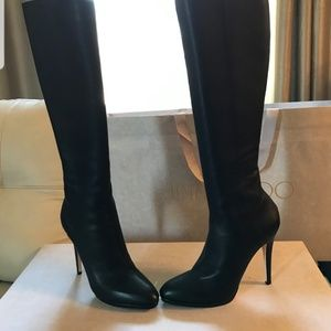 New Jimmy Choo heels Gecco Black Grainy